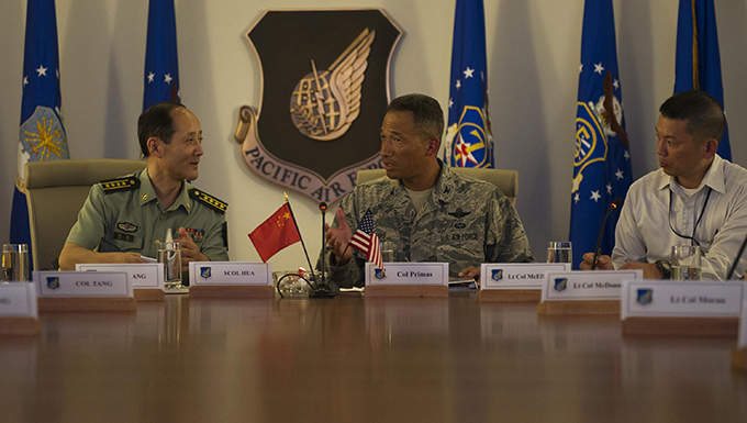 PACAF hosts Chinese officers for exchange