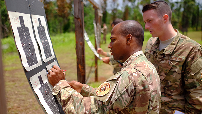 647th SFS hosts joint-service M4 marksman competition