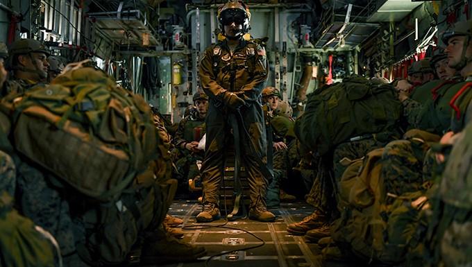 Airmen, Marines work together