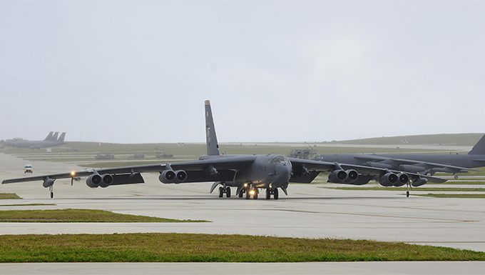 B-52's demonstrate power projection in the Pacific